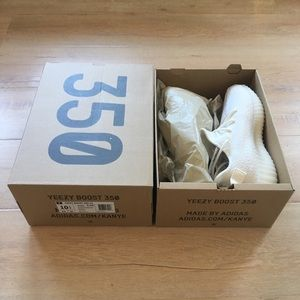 Yeezy Boost 350 V2 Triple White Sz 10.5 Authentic